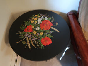 Beautiful tole painted table