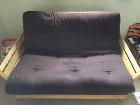 Lovely double bed futon with solid wood frame