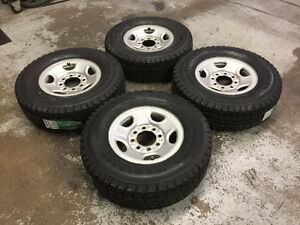 "16"" Steel Wheels 8x6.5 & 10 Ply Winter tires LT245/75R16 (VAN)"