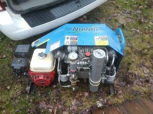 compresseur paintball nuvair 9 cfm 4500 psi moteur a gaz