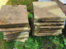 Free paving slabs: 30cm and 2ft Square concrete