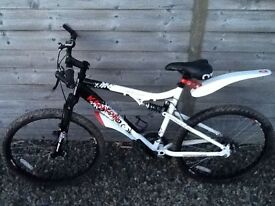 Apollo Kanyon 20 inch men's bicycle - full suspension - recently serviced - mountain bike
