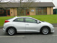 2012 12 Honda Civic 2.2 i DTEC EX Hatchback 5dr WITH FSH+SATNAV+REV CAM+LEATHER