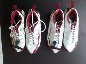 2 pairs NEW Size 11.5 Nike Speed Football Cleats Burgundy/White