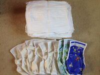 Cloth nappies.