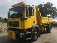 2007 57 MAN TGM 18.240 3-way steel insulated Econ uni bodied tipper