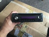 Kenwood stereo with front aux port