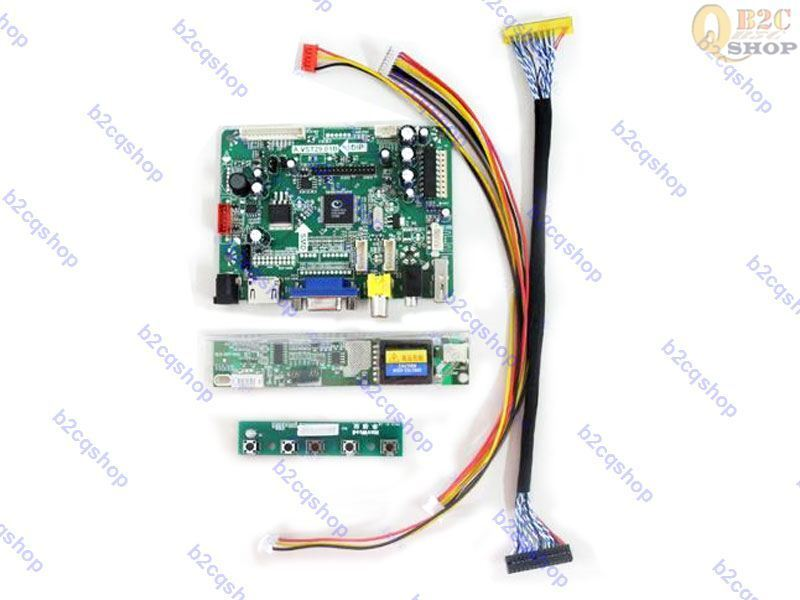 LCD LED LVDS Controller Driver Board Kit for CLAA141WB03 HDMI+DVI+VGA