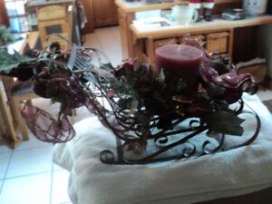 chariot de Noël, centre de table