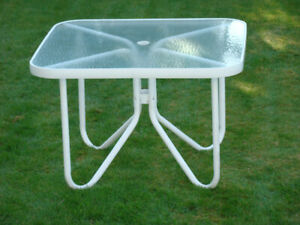 Aluminum Frame Patio Table
