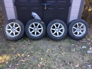 Just in time for winter - TOYO tires with rims for sale