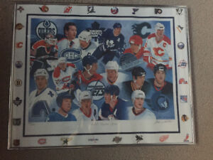 NHL Canadian Greats Painting Signed by Wendel Clark!! and Artist