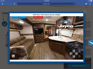 2015 Jayco Whitehawk ultralight trailer
