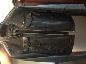 Leather coat and Bench jacket