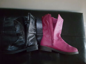 Girls boots - new -Size 4 for $20
