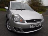2008 58 FORD FIESTA 1.2 ZETEC BLUE 5D 75 BHP ** 1 PREVOUS OWNER , NICE EDITION