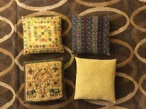 Hand-stitched accent pillows