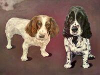 Custom Hand Painted Pet Oil Portrait / Perfect Christmas Gift Idea
