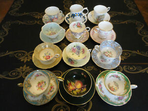 Fifth Lot of VINTAGE England Bone China Tea Cup and Saucer Sets