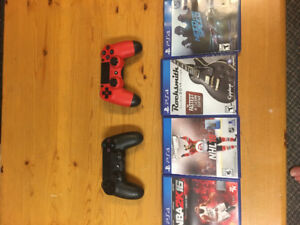 PS4, controller and games!