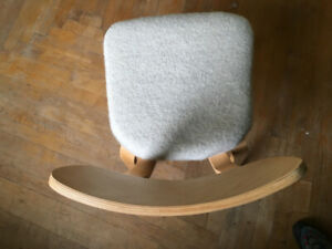 Mid Century Modern Bent plywood chair with wool seat