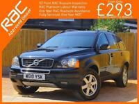 2010 Volvo XC90 2.4 D5 Turbo Diesel 185 BHP ACTIVE AWD 7-Seater Geartronic Auto