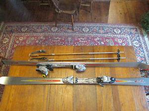 Volant Super T3 Downhill Skis 175cm/69'' with Poles