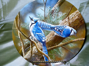 """1985 Limited Edition """"The Blue Jay"""" collector plate"""
