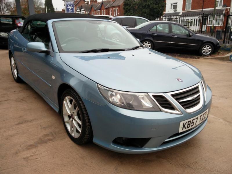 2007 Blue Saab 9 3 2 Door Convertible Auto Automatic
