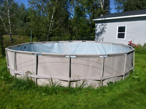 18' above ground metal frame pool