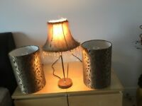 Next lamp and two matching shades