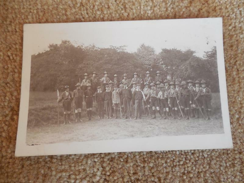 Vintage Early Boy Scouts RPPC Halifax Yorkshire SCouting UK England 1912? Scarce