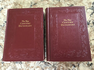 1930's leather bound 2 volumes New Century Dictionary