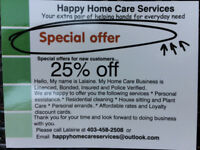 Get 25% discount!!--House Sitting & Cleaning Services