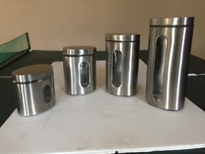 4 Stainless Steel Canisters