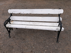 Garden Bench vintage park seat retro restoration project