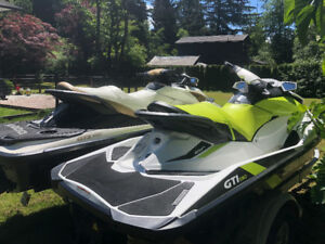 2011 Sea Doo GTX iS Limited & 2016 Sea Doo GTi 130 with Trailer