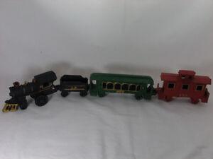 Vintage Cast Iron Train Model