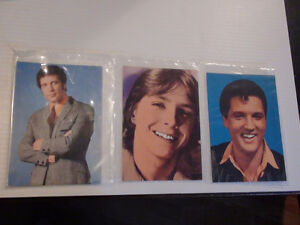 CARTES POSTALES VEDETTES ELVIS TOM JONES DAVID CASSIDY 70's
