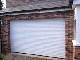 roller garage door insulated