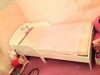 Girls First Bed, With Mattress, Hardly Used