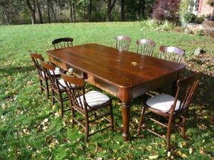 Solid Wood Table & Chairs restored from the 1800's