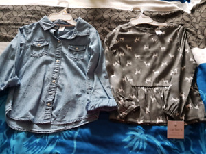 Girls 5T and 6T shirts BNWT
