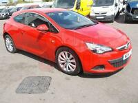 2014 Vauxhall Astra GTC SRi 1.4 Turbo DAMAGED REPAIRABLE SALVAGE