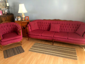 Antique Couch & Chair For Sale