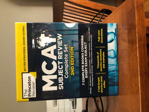 Complete MCAT subject review textbooks