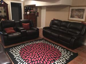 3 Piece Reclining Leather Sofa