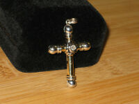 VALENTINES DAY SPECIAL: 14k &18k cross with diamond.