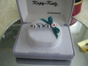 "ATTRACTIVE LITTLE BROOCH Made Especially for ""JUNE"""