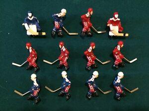 12 figurines de joueur d'hockey Canada et USA